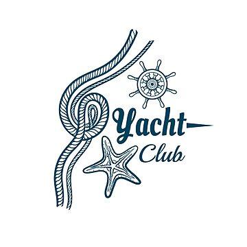 Yacht Club Badge With Starfish by Chesnochok