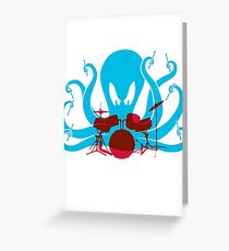 Octo Drummer Greeting Card