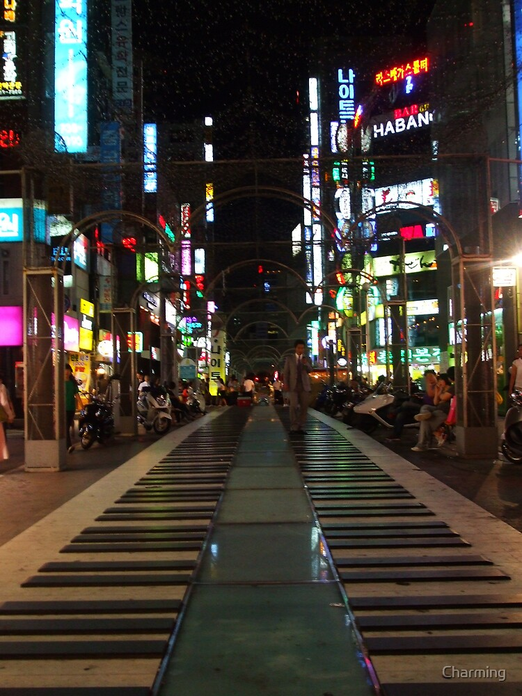 Piano Street at Night by Charming
