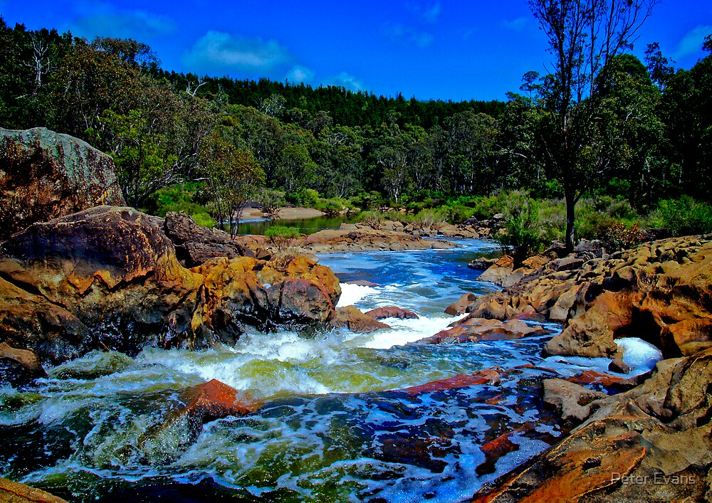 Dodgie River Crossing by Peter Evans