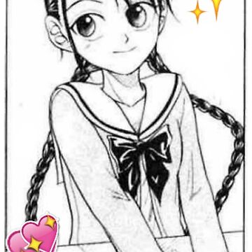 Anime Girl Emoji by fennnnnn