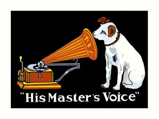 His Master's Voice, Nipper the Dog by aapshop