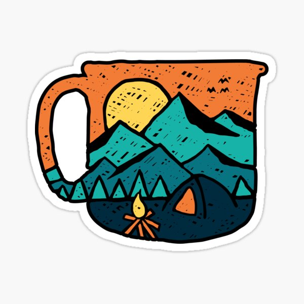Coffee and go adventure Sticker