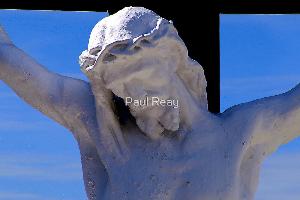 Jesus on the cross by Paul Reay