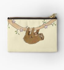 Mama and Baby Sloth Studio Pouch