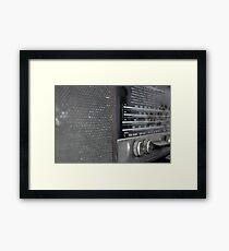 old radio Framed Print