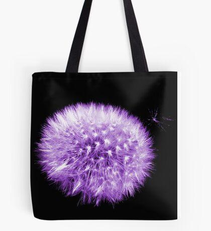Purple Dandelion Tote Bag