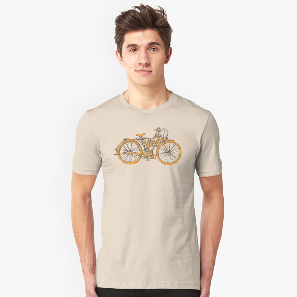 Steam Punk Cycling Unisex T-Shirt Front