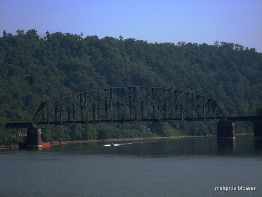 old train bridge by melynda blosser