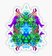 Psychedelic Trance inspired Sticker