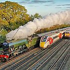 Flying Scotsman and the Four Trains by Colin  Williams Photography