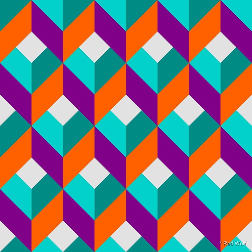 Geometric Pattern: Box: Purple by * Red Wolf
