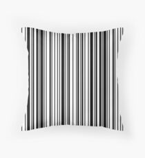Grace barcode pattern Throw Pillow