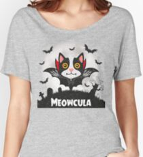 Meowcula Funny Halloween Cat Women's Relaxed Fit T-Shirt