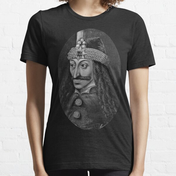 Vlad Țepeș Portrait - Grayscale Essential T-Shirt