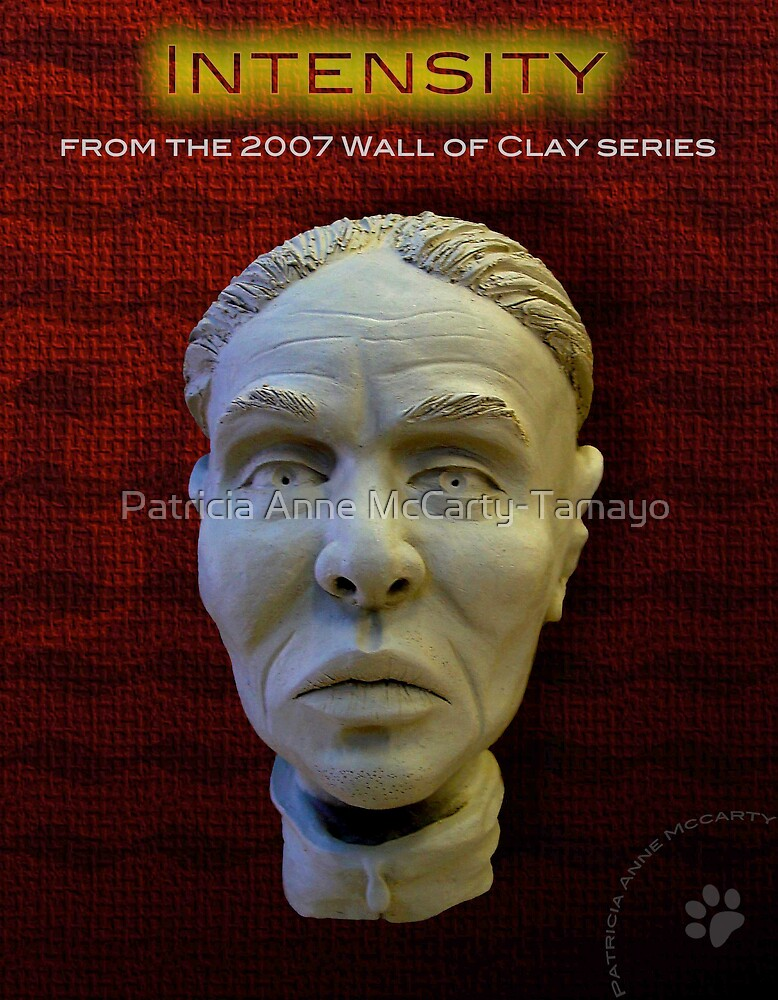 """WALL of CLAY: """"Intensity"""" by Patricia Anne McCarty-Tamayo"""