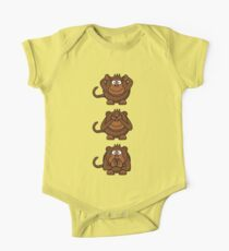 Cartoon Monkey Hears, Sees, Speaks No Evil! Kids Clothes