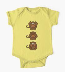 Cartoon Monkey Hears, Sees, Speaks No Evil! Kids Clothes