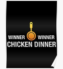 Battlegrounds Winner Winner Chicken Dinner - PUBG Gaming Poster