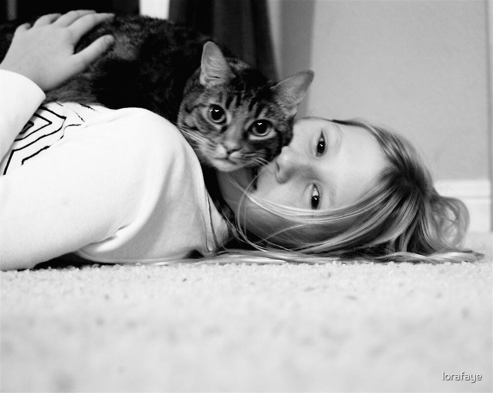 Tessa and Kitty by lorafaye