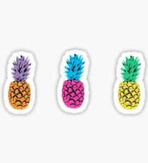 tricolor pineapples Sticker