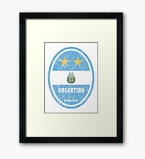 Football - Argentina (Distressed) Framed Print