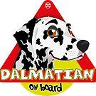 Dalmatian On Board - Black&White by DoggyGraphics