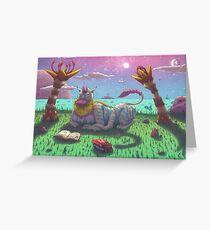 Scornifelis bibliophilus Greeting Card