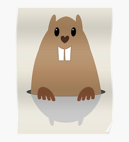 GROUNDHOG & SHADOW Poster
