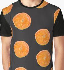 Orange pattern Graphic T-Shirt