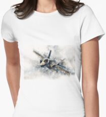 F35 Lightning II Painting Women's Fitted T-Shirt