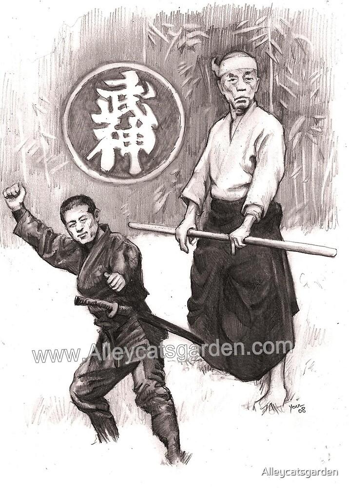 the 2 Ninjas by Alleycatsgarden