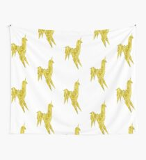 Blade Runner - Gold Texture Unicorn Wall Tapestry