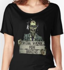 Funny Zombie Halloween Shirt Tshirt Gift Women's Relaxed Fit T-Shirt