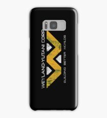 Weyland Yutani - Distressed Yellow/White Variant Samsung Galaxy Case/Skin