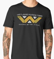 Weyland Yutani - Distressed Yellow/White Variant Men's Premium T-Shirt