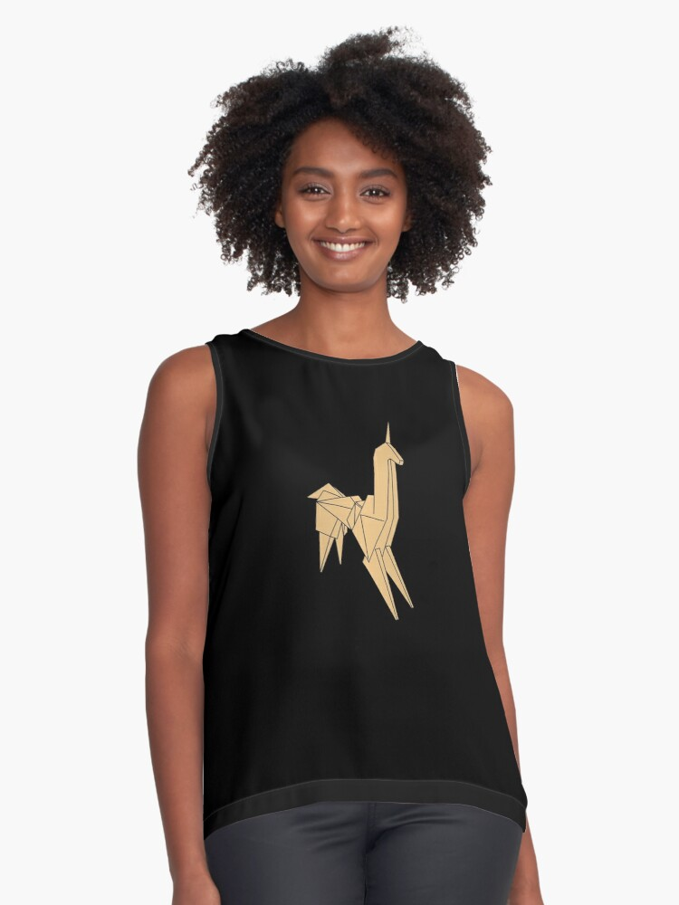 Blade Runner - Brushed Gold Unicorn Contrast Tank Front