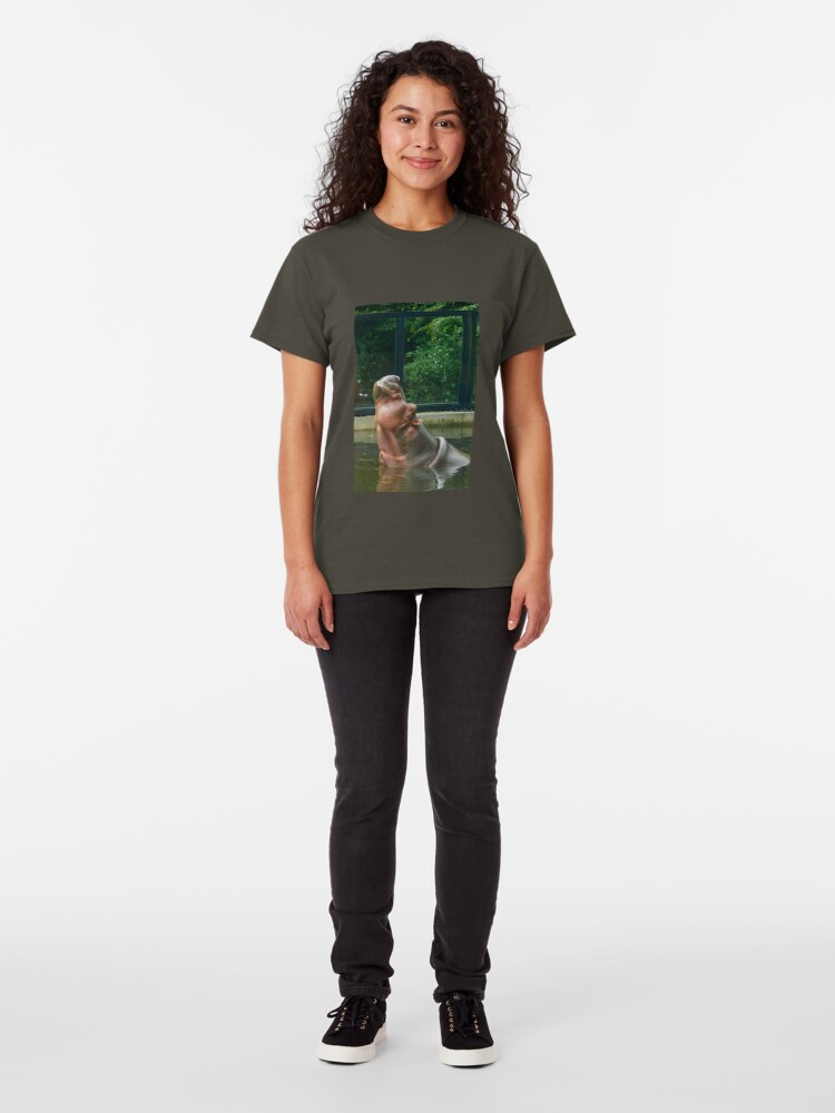 Alternate view of Happy Hippo - Aaaah... Life is good... Classic T-Shirt