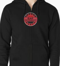 Cat For President Zipped Hoodie