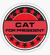 Cat For President Sticker