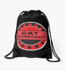 Cat For President Drawstring Bag