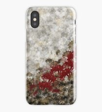 red spider lily silver gold Japanese Kamon decoration iPhone Case/Skin