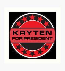Kryten For President Art Print