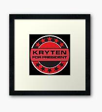Kryten For President Framed Print