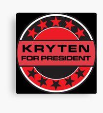 Kryten For President Canvas Print