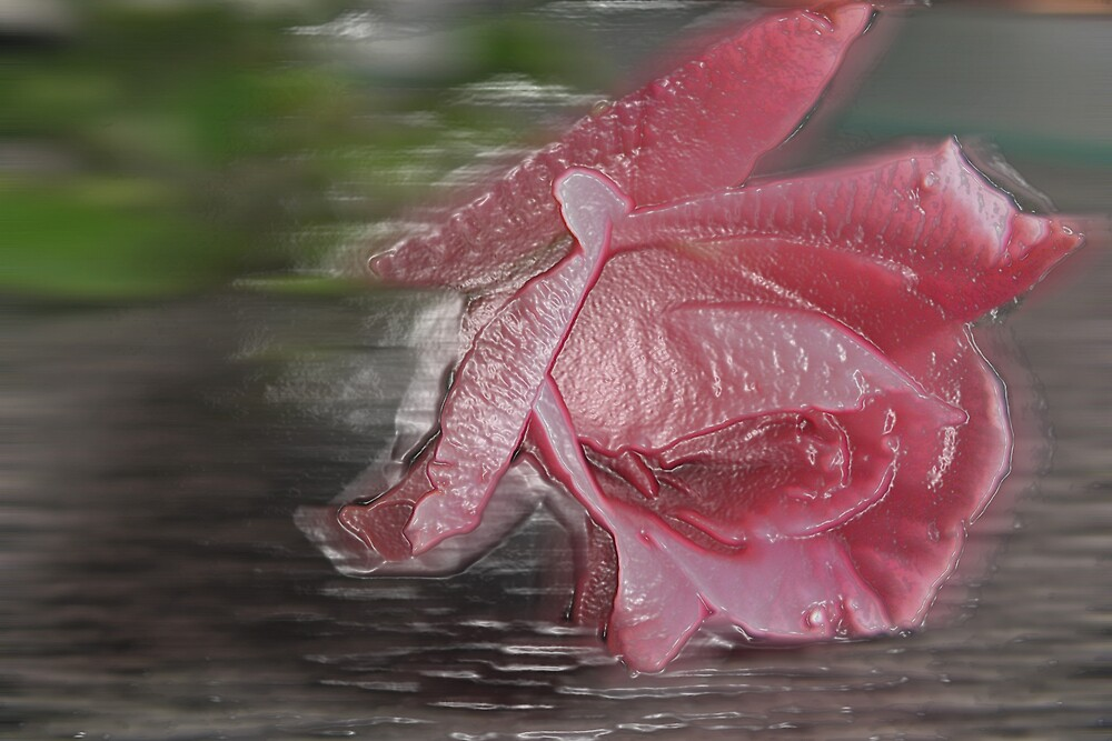 Pink Plastic Rose by LilyPearl0560