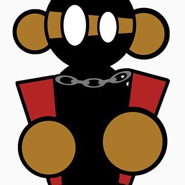 Ninja Monkey with Nunchucks by NinjaMonkey91