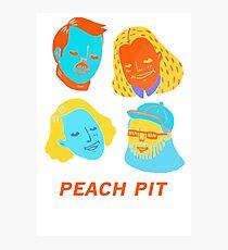 Peach Band Photographic Print