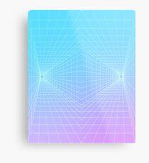 Vaporwave 3D grid | 80s / 90s Metal Print