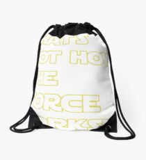 Han Solo Quote Drawstring Bag